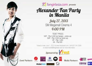 Alexander Fan Party in Manila